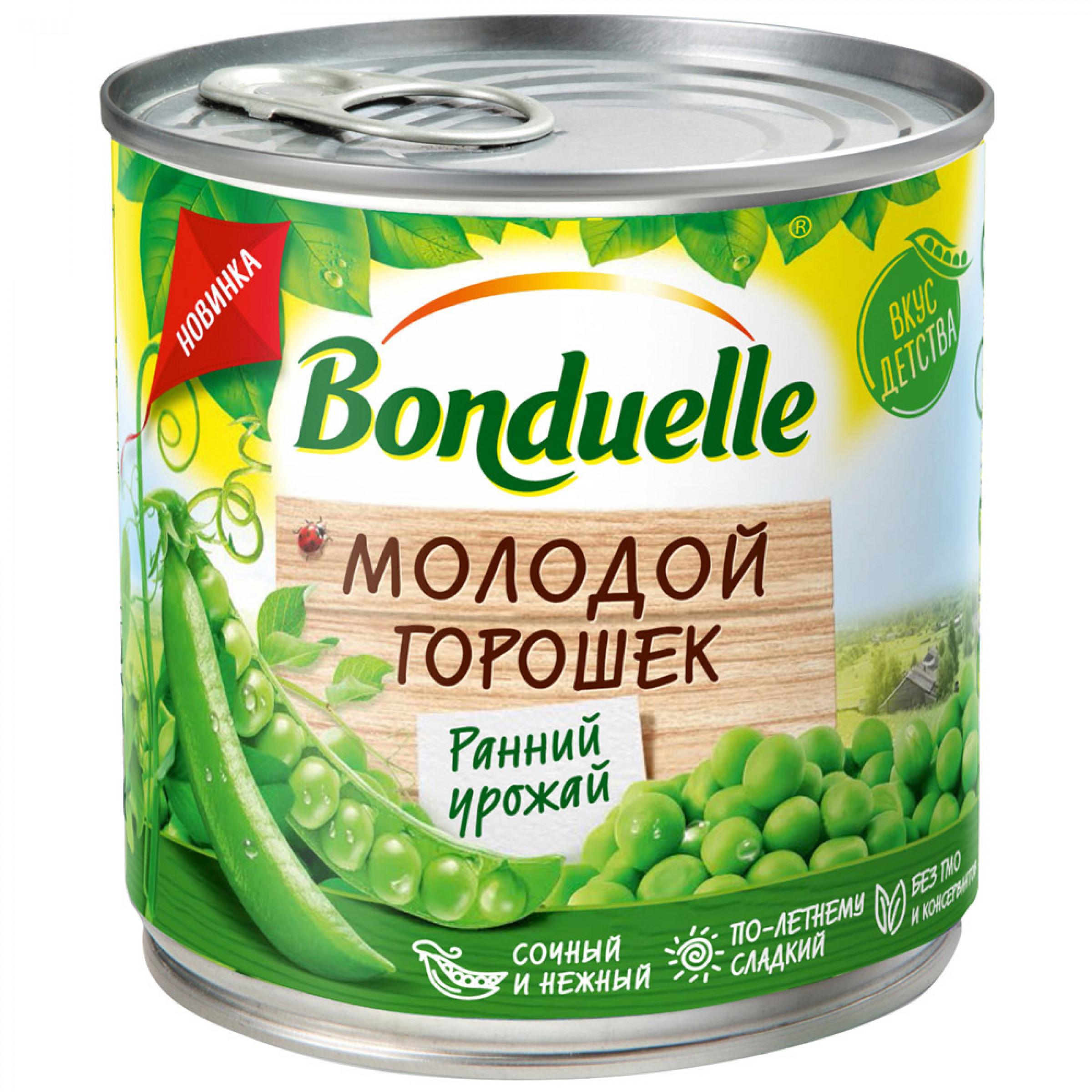 Горошек Зеленый BONDUELLE Молодой, 425 мл