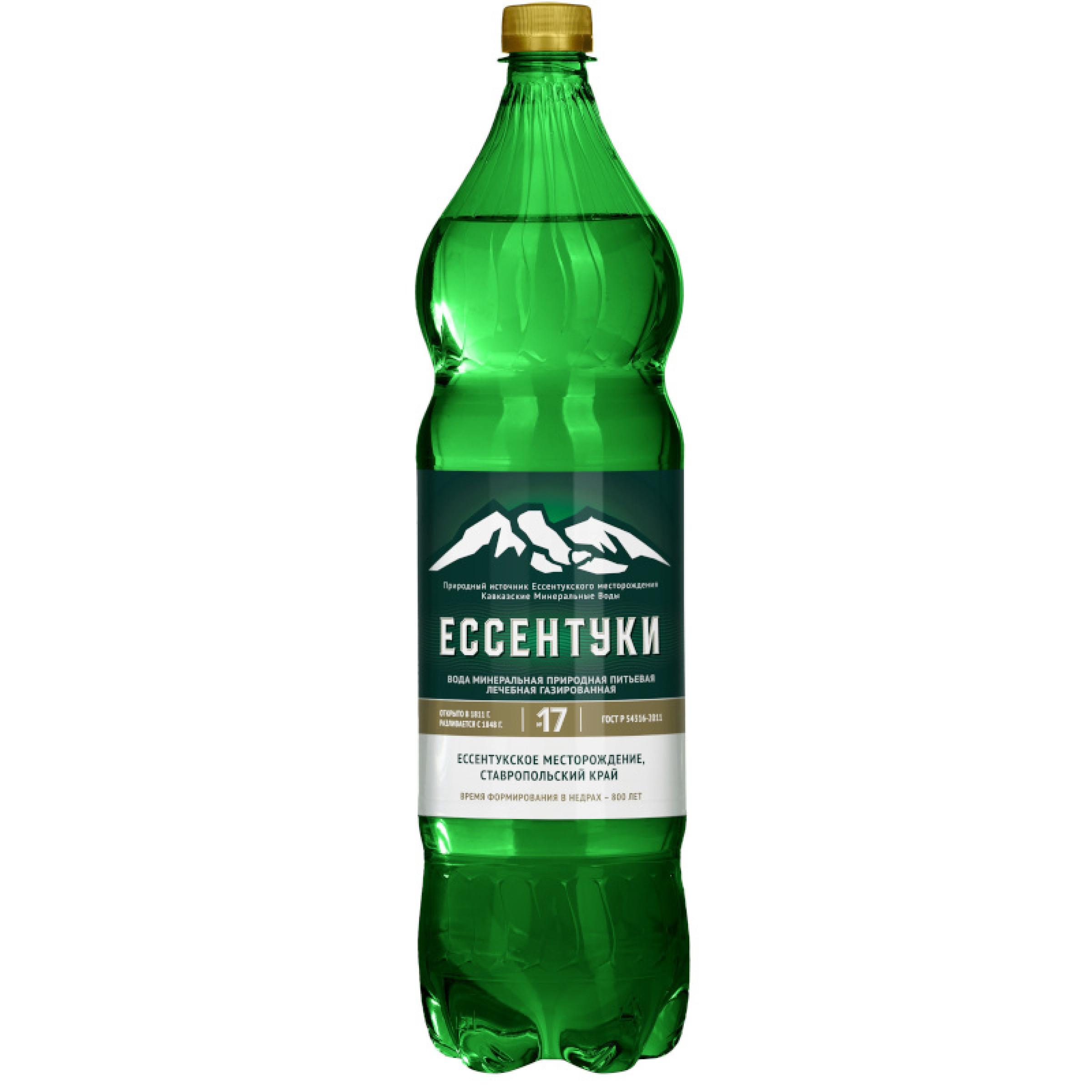 Вода минеральная газированная Ессентуки №17, 1, 5 л