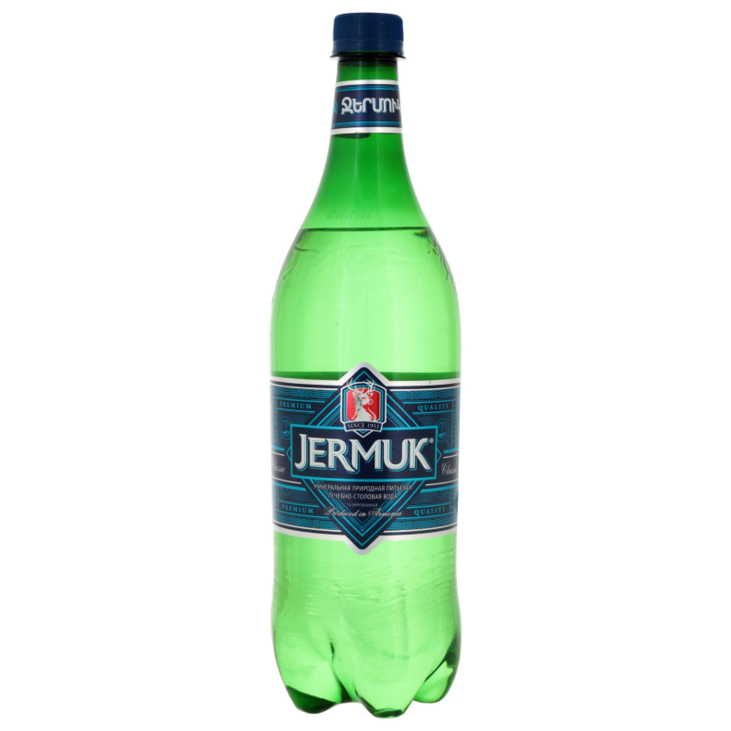 Вода минеральная газированная ДЖЕРМУК, 1 л