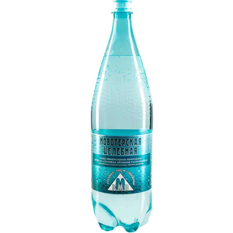 Вода минеральная газированная Новотерская, 1, 5 л