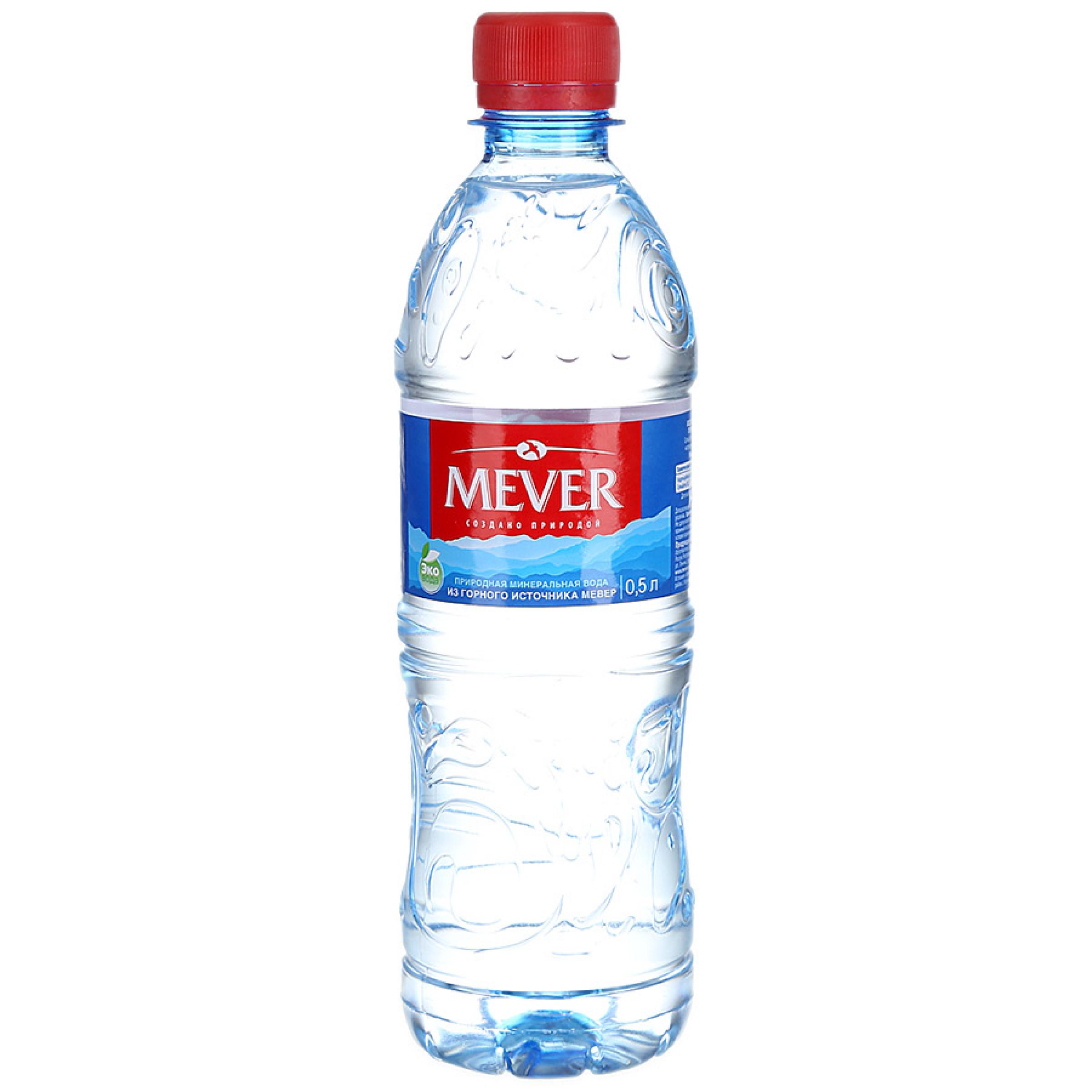 Вода минеральная негазированная Мевер, 500 мл
