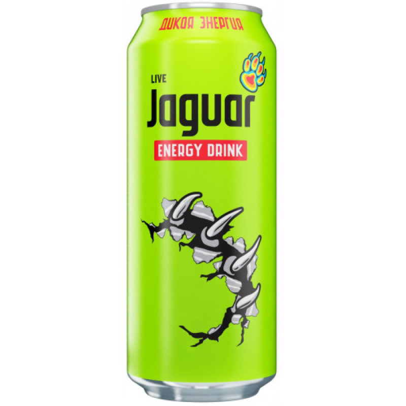 Энергетический тонизирующий напиток Jaguar Live, 500 мл