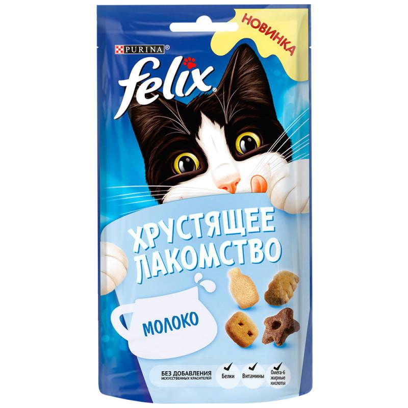 Лакомство Felix для взрослых кошек с молоком, 60 гр