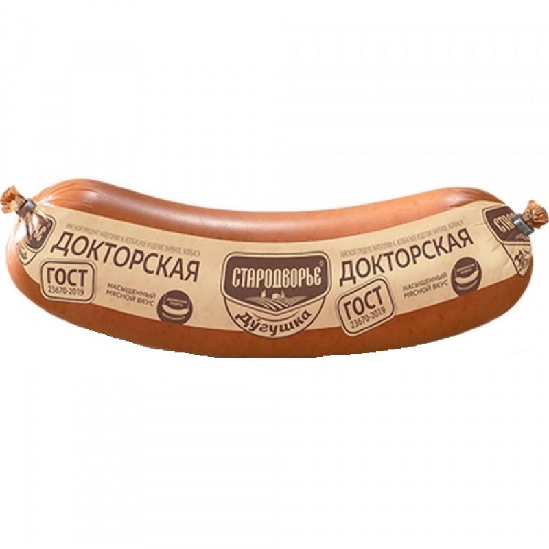 Варёная колбаса Докторская ГОСТ Дугушка, 400 гр