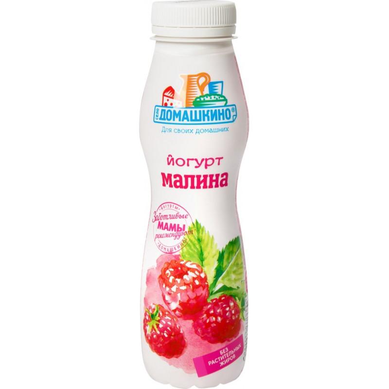 Йогурт питьевой 2% Домашкино Малина, 270 гр