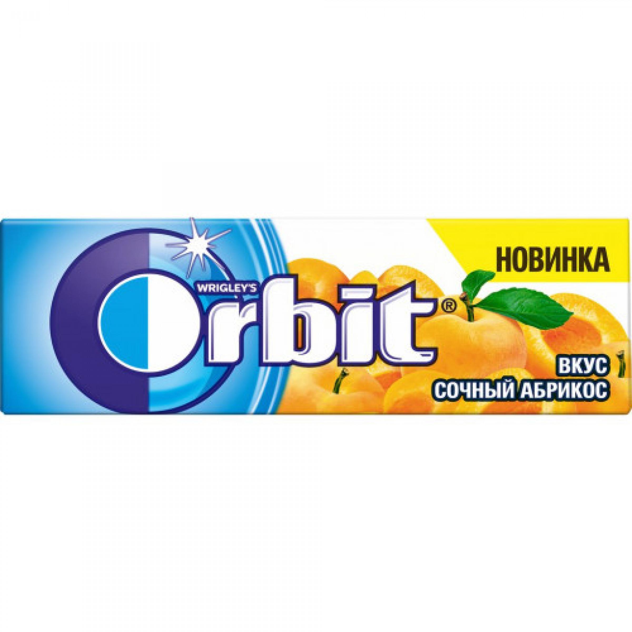 Жевательная резинка Orbit Сочный Абрикос без сахара, 13. 6 гр
