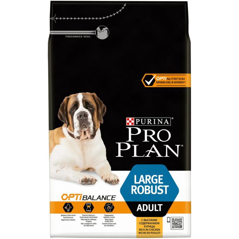 Сухой корм Pro Plan® для взрослых собак крупных пород с мощным телосложением с курицей, 3 кг