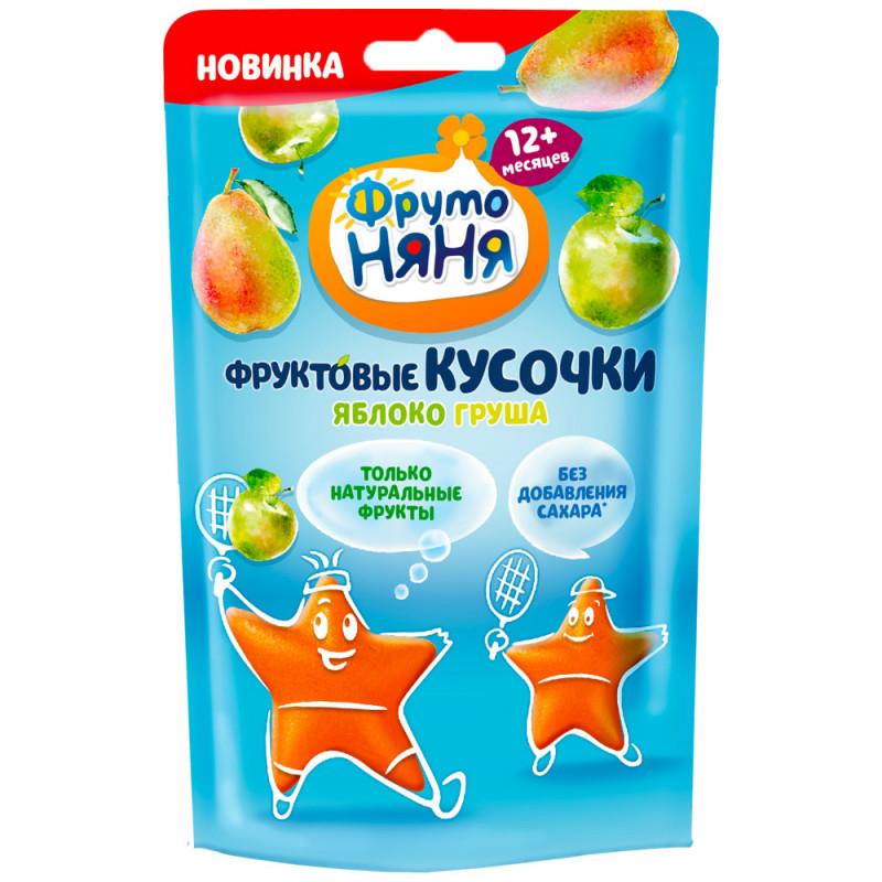 Фруктовые кусочки ФрутоНяня с яблоком и грушей без сахара с 12 месяцев, 15 гр