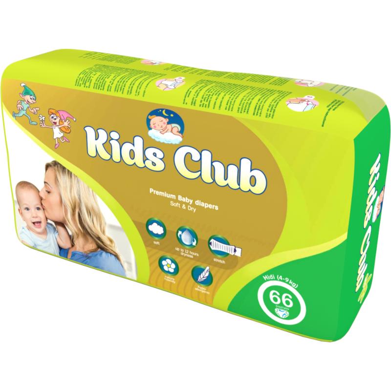 Подгузники Kids Club Рremium 4-9 кг, 66 шт