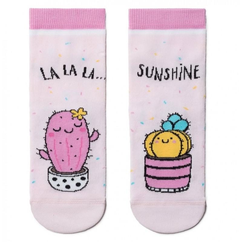 Носки детские CONTE Веселые ножки, цвет светло-розовый, размер 30-32