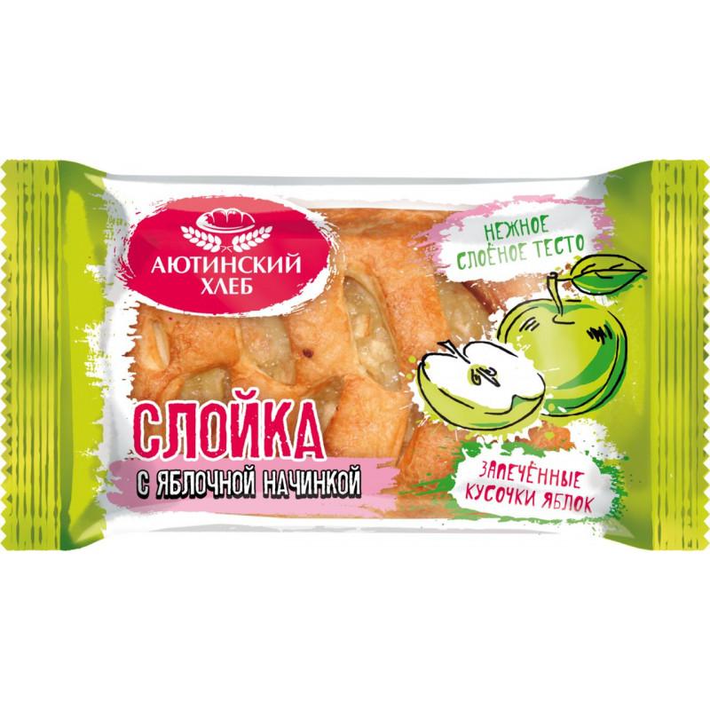 Слойка с яблоком Аютинский, 80 гр