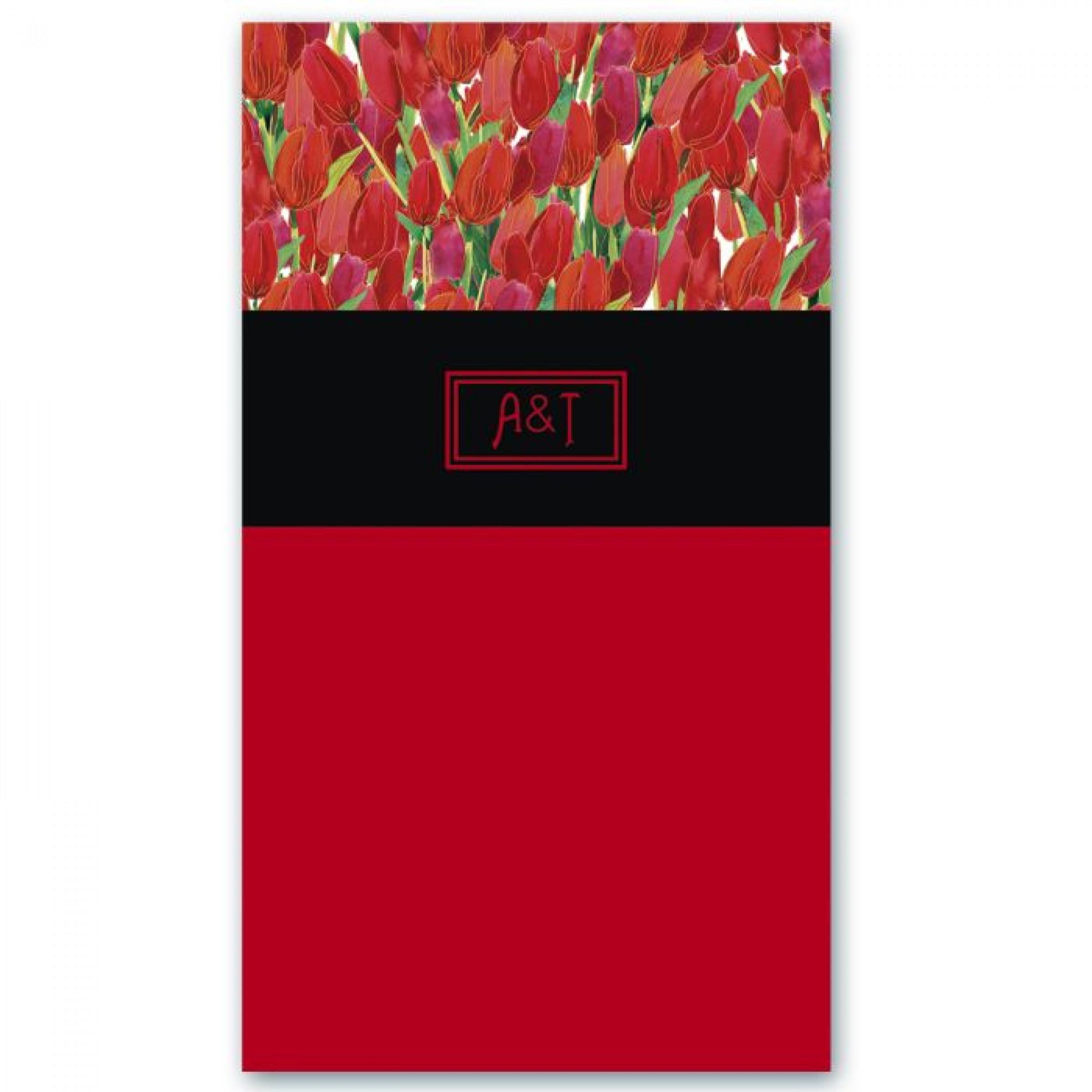 """Телефонная книжка """"Красные тюльпаны"""", 85х155мм."""