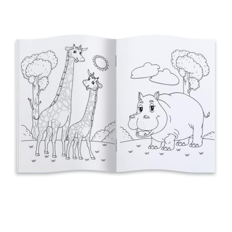 Раскраска для детей ЗООПАРК 200х290 мм, 8 л
