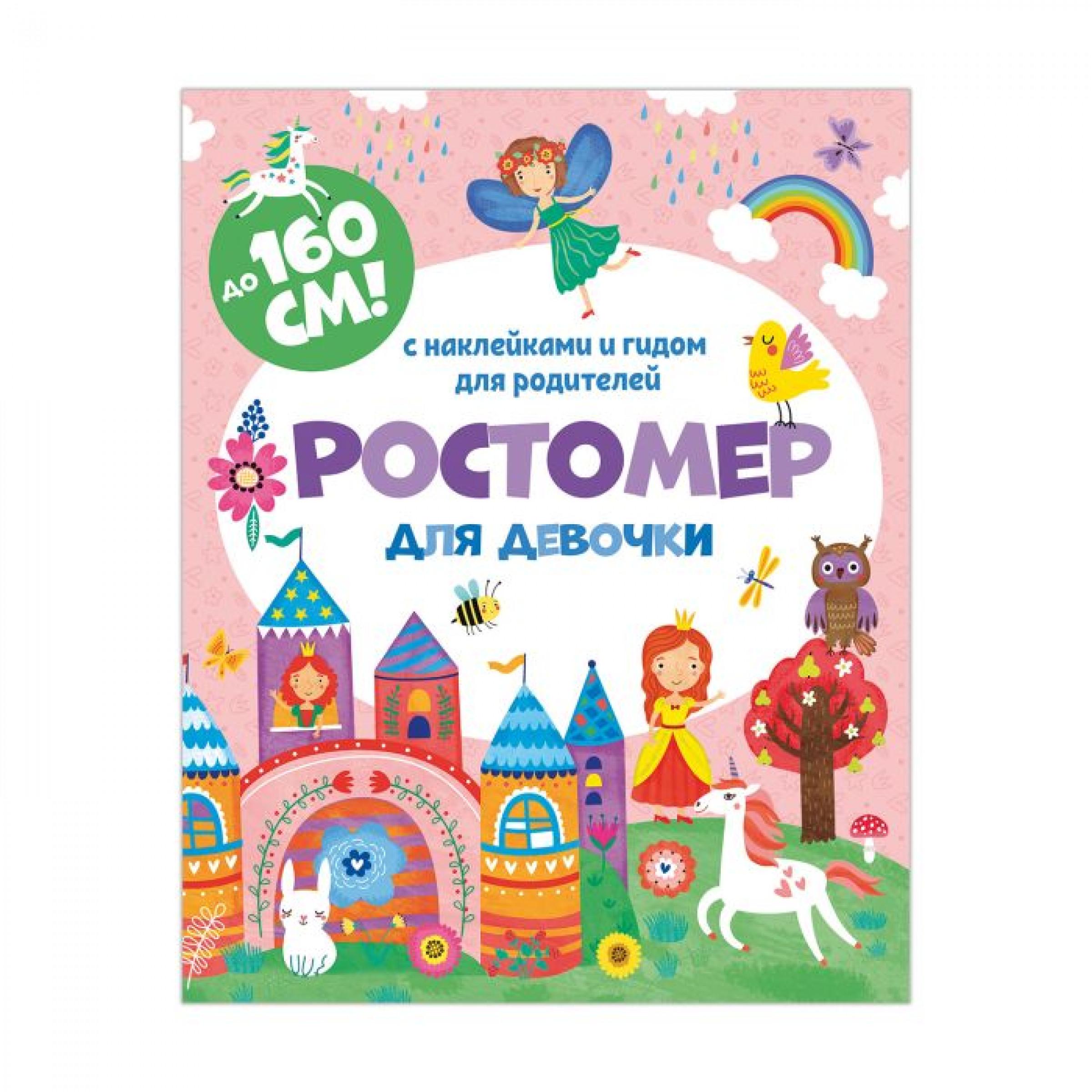 """Ростомер с наклейками """"Для девочки"""", 160x200мм."""