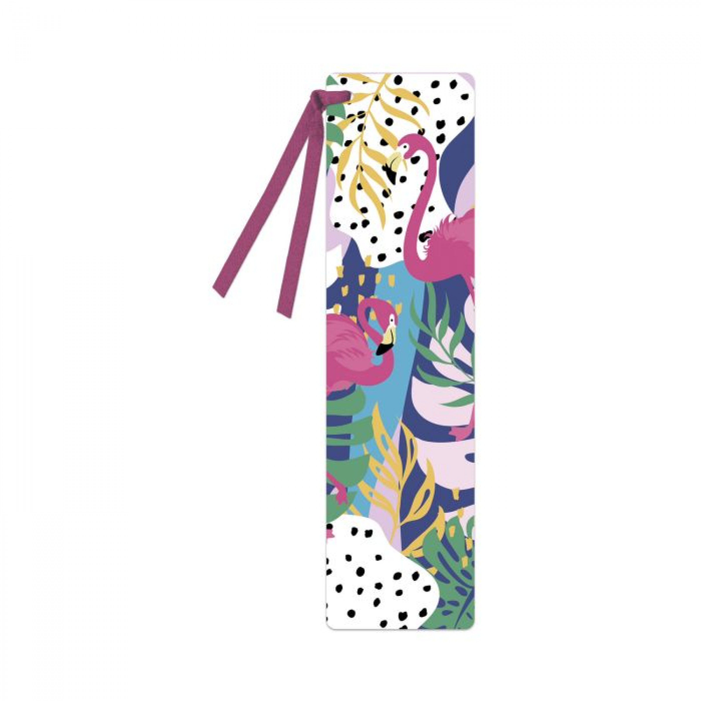 Закладка картонная для книг ФЛАМИНГО, 1 шт