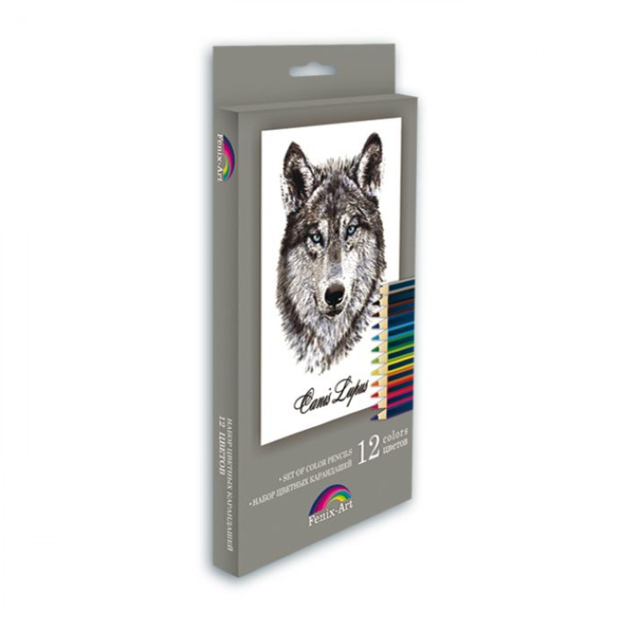 """Набор цветных карандашей """"Волк"""", 12 шт."""
