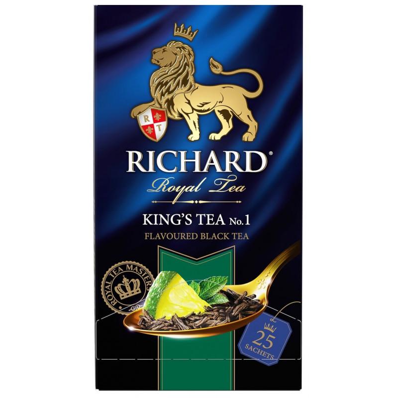 Чай черный Richard Kings Tea лайм и мята, 25пак*2гр