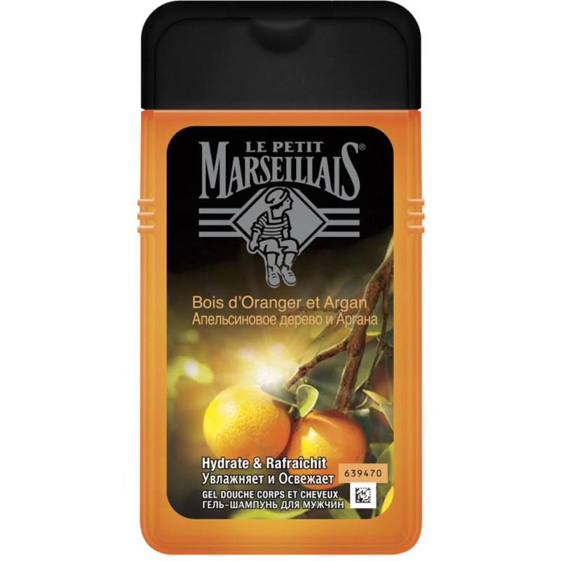 Гель-шампунь мужской Le Petit Marseillais Апельсиновое дерево и аргана, 250 мл