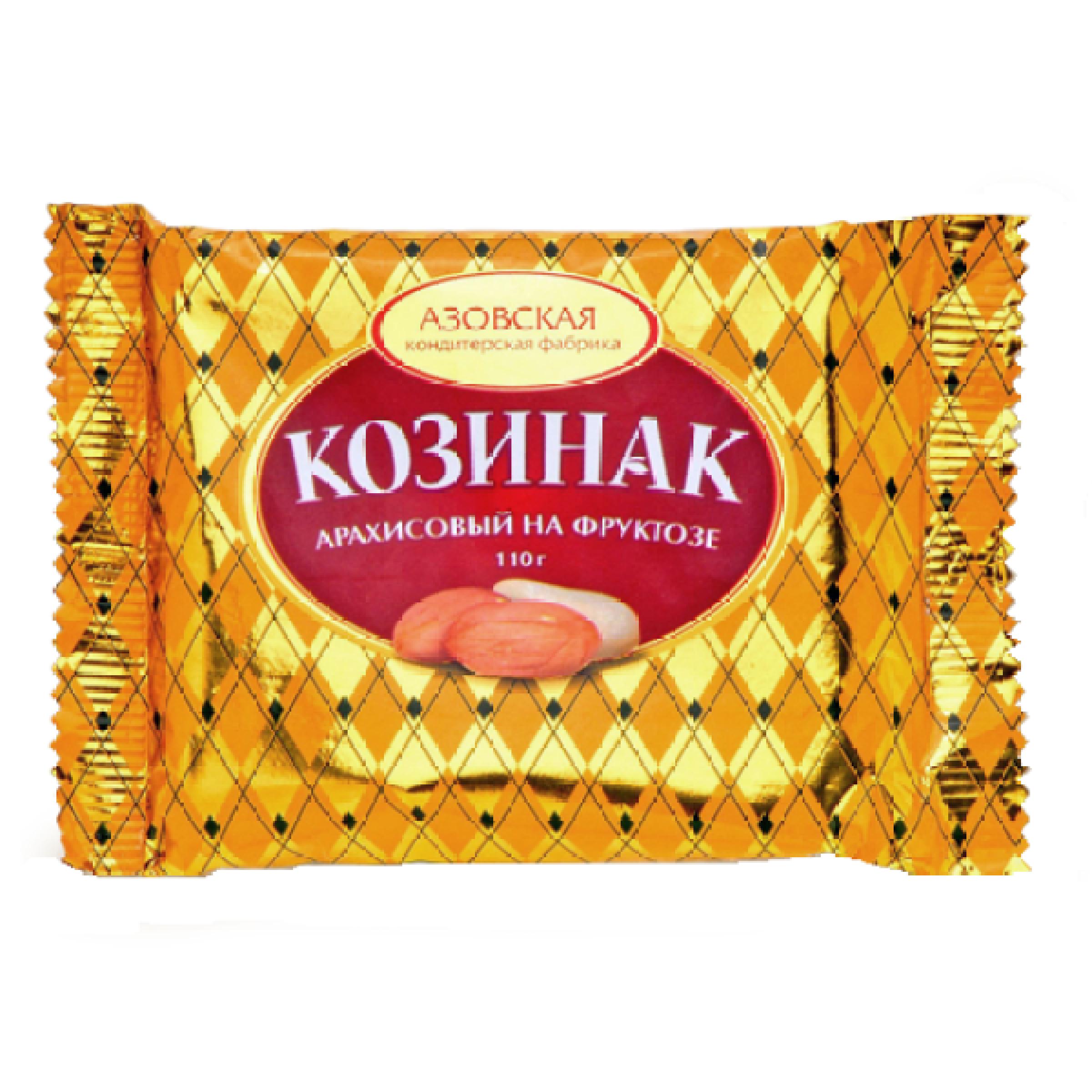 Козинак арахисовый на фруктозе, Азовская кондитерская фабрика, 110 гр