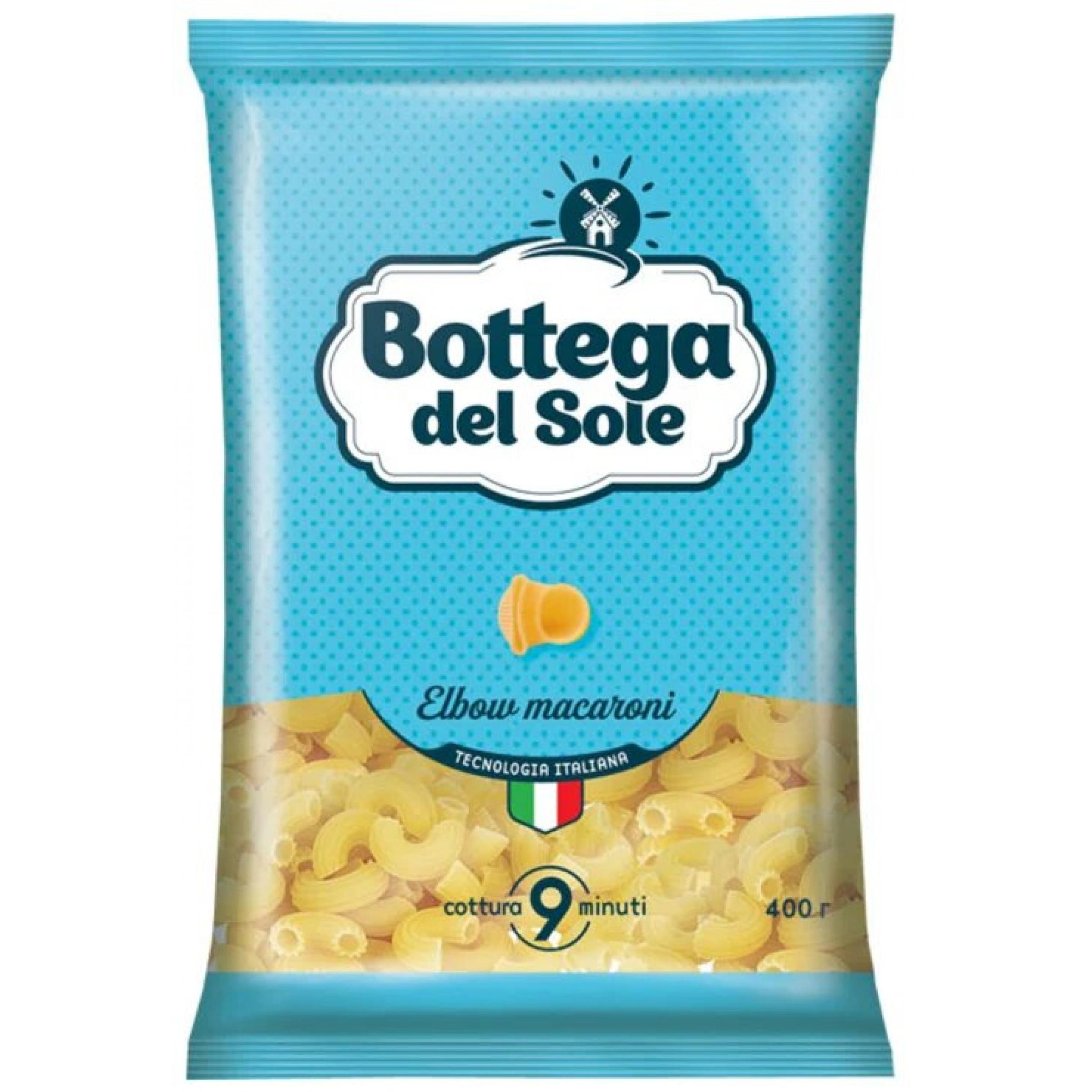 Макаронные изделия Bottega del Sole Рожки, 400 гр