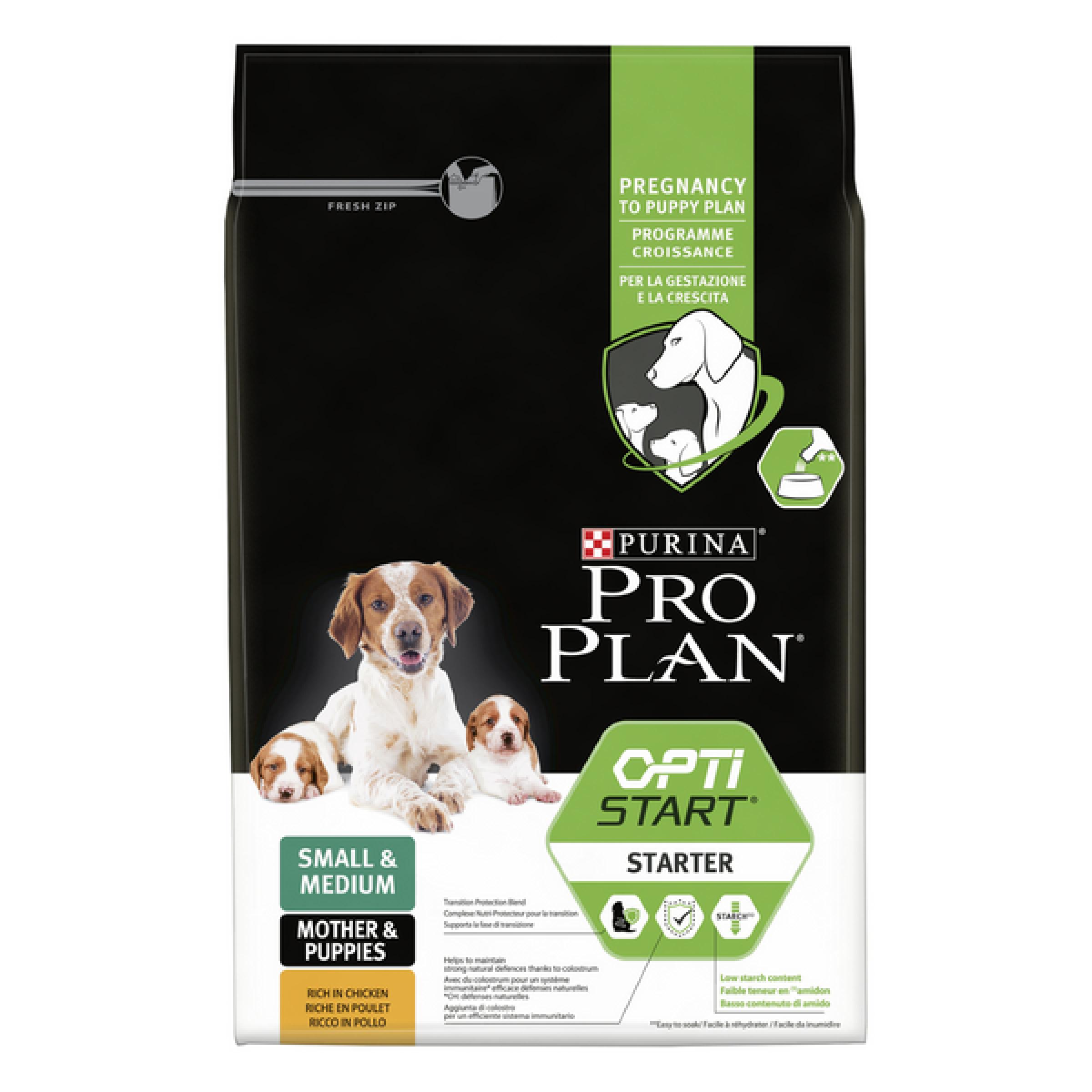 Сухой корм Pro Plan® для щенков средних и мелких пород, с высоким содержанием курицы, Пакет, 3 кг