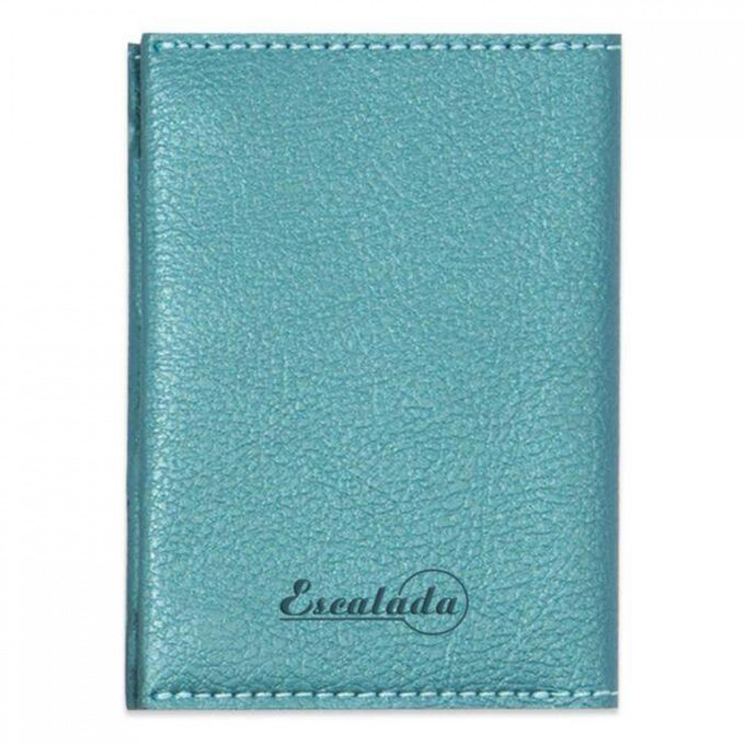 """Чехол для пластиковых карт """"Наппа"""", зеленовато-голубой металлик, 70x105 мм"""