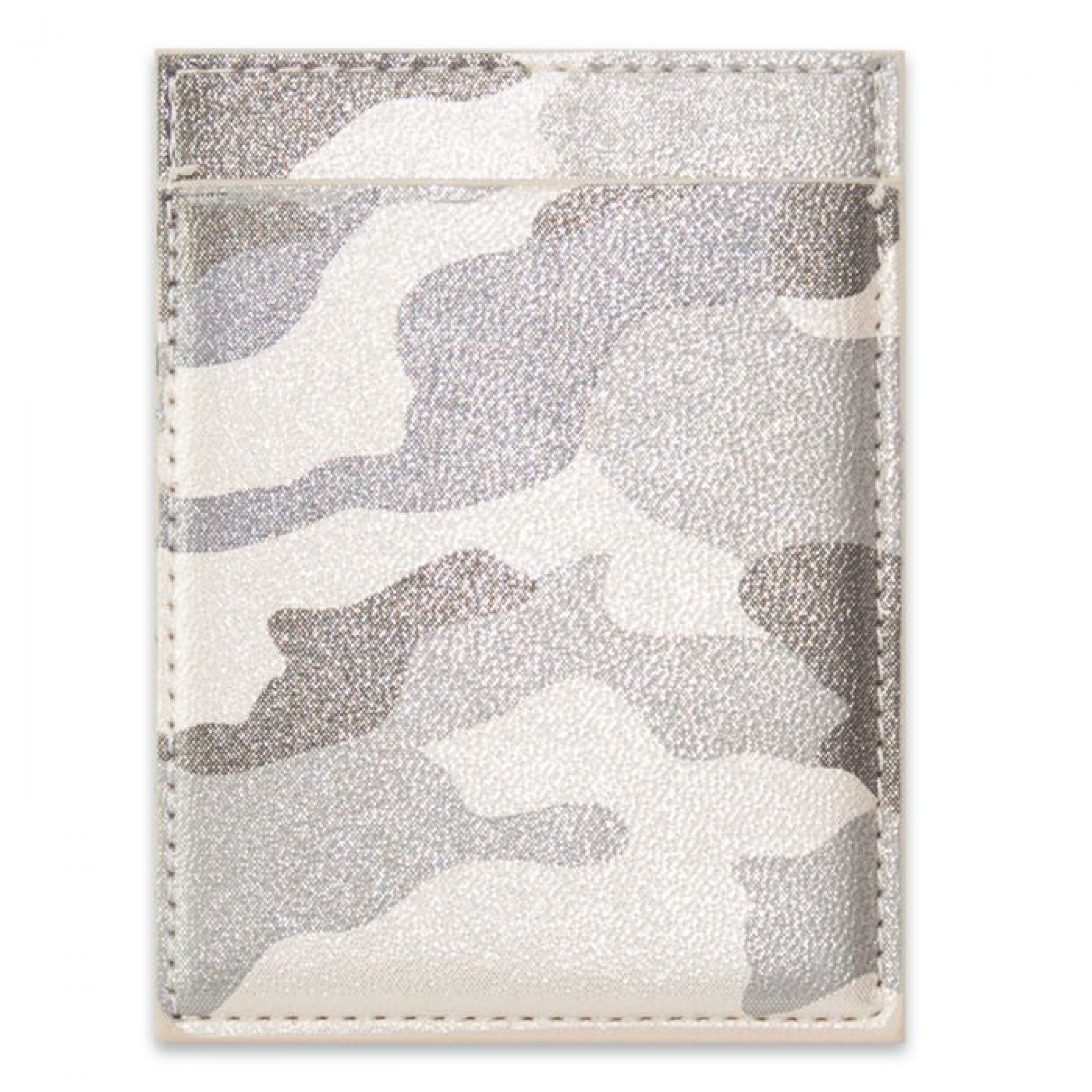 """Чехол для пластиковых карт """"Камуфляж"""" стальной металлик, 105х78 мм"""
