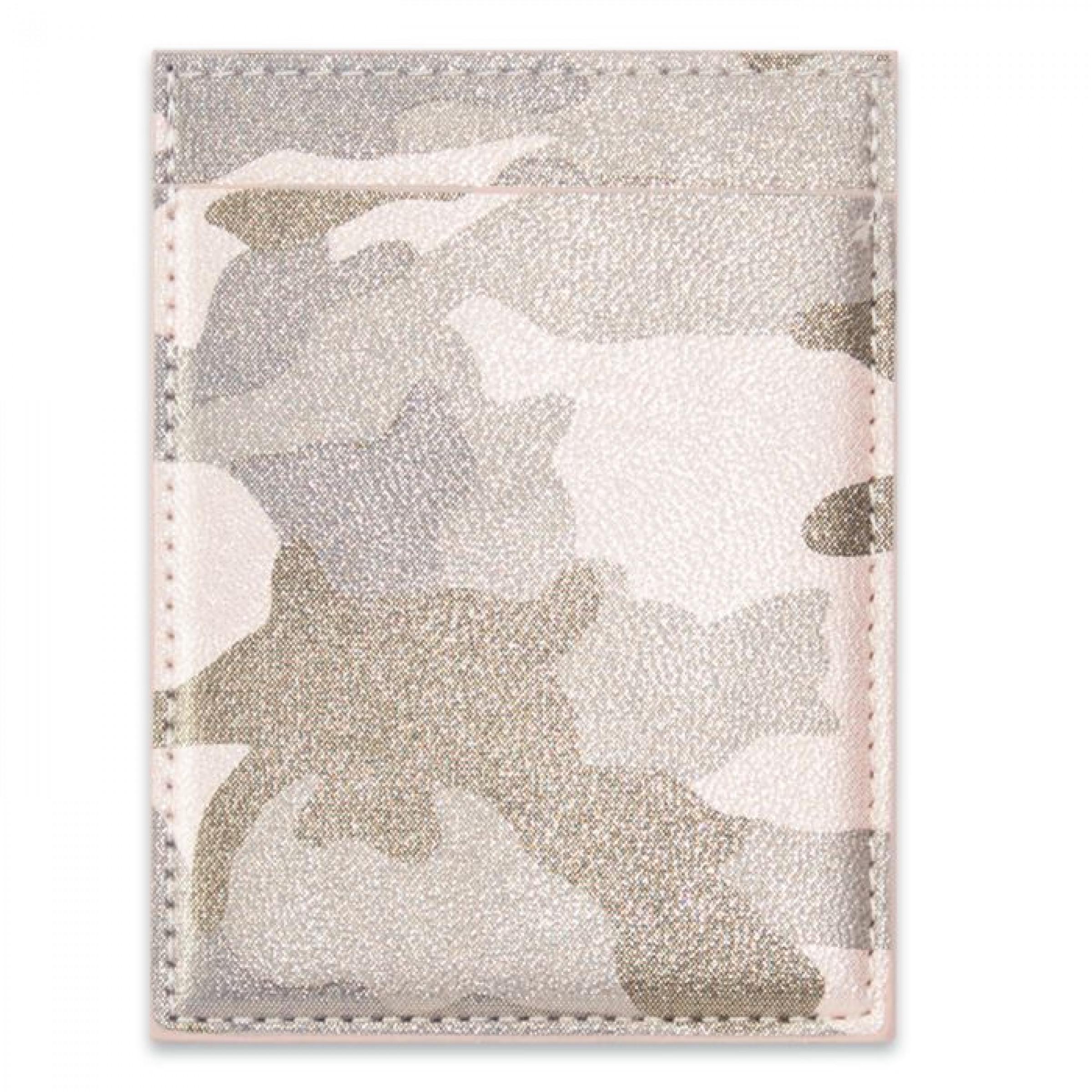 """Чехол для пластиковых карт """"Камуфляж"""" хаки металлик, 105х78 мм"""