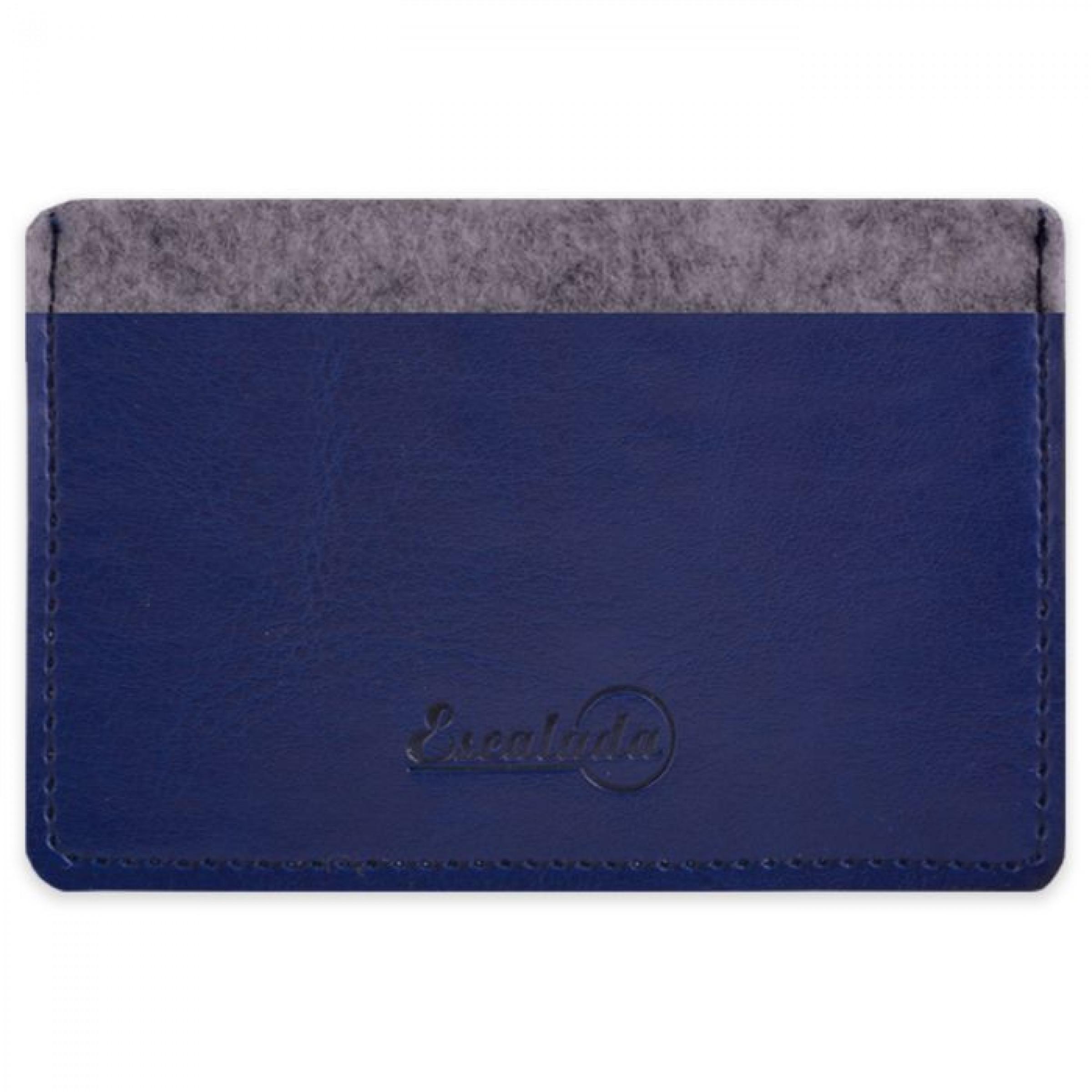 Чехол для пластиковых карт, сариф синий, 95х67 мм