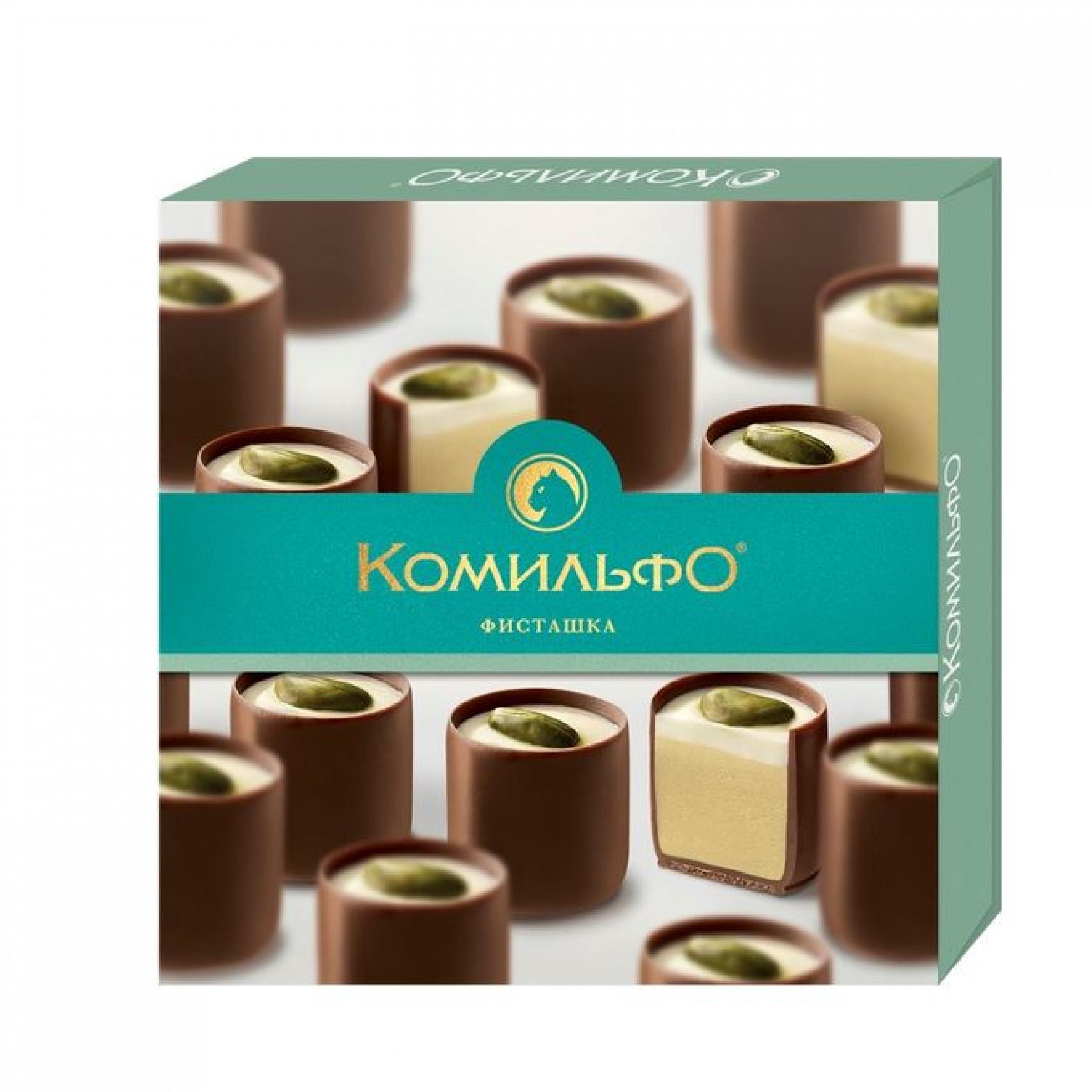 """Шоколадные конфеты """"Комильфо"""" фисташка, 232г."""