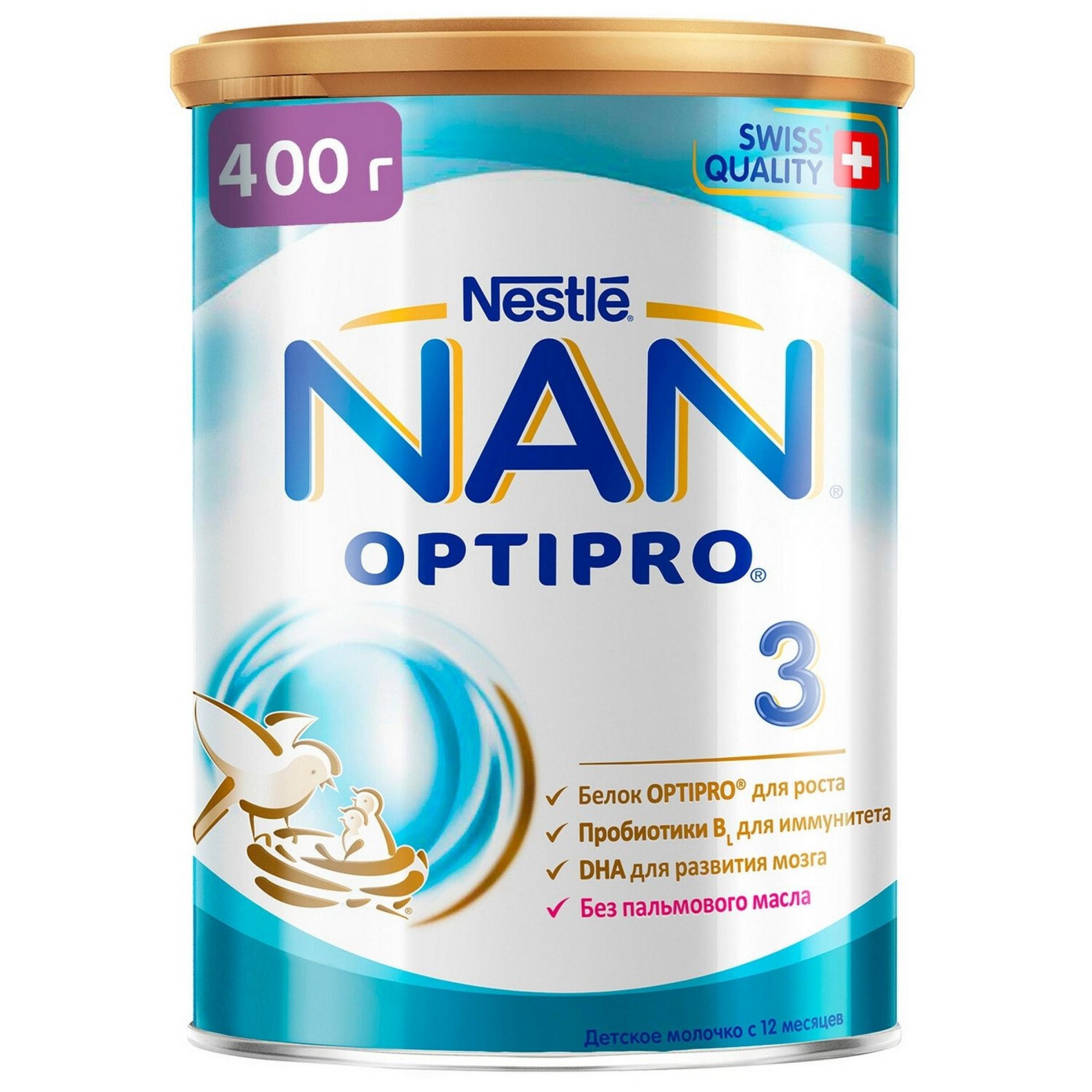 """Смесь """"NAN"""" Optirpo 3 с 12 месяцев, 400гр."""