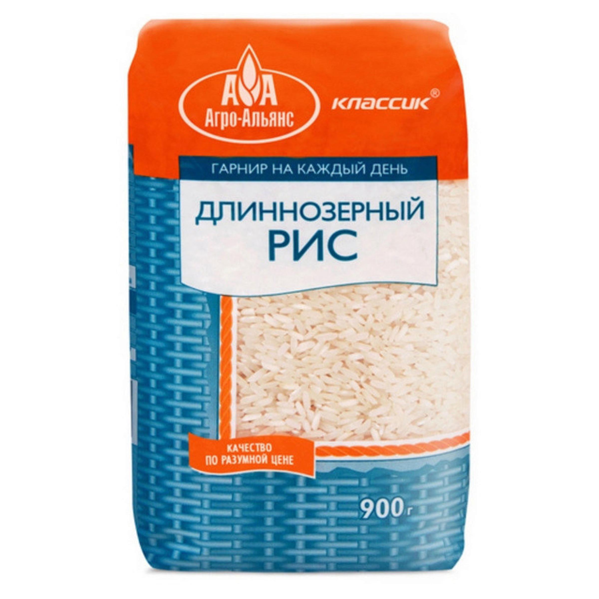 """Рис длиннозерный """"Агро-Альянс"""" Классик, 900 г"""