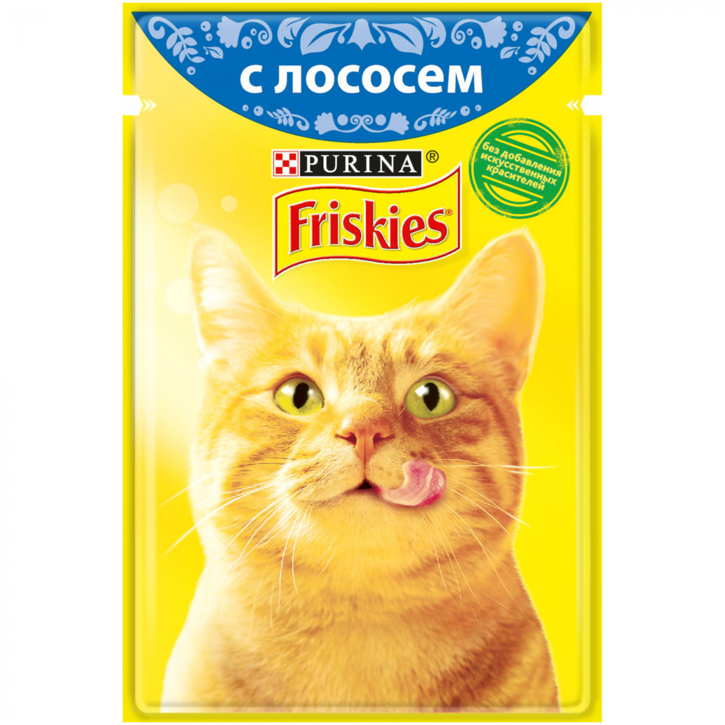 Влажный корм FRISKIES для взрослых кошек, с лососем в подливе, 85 г