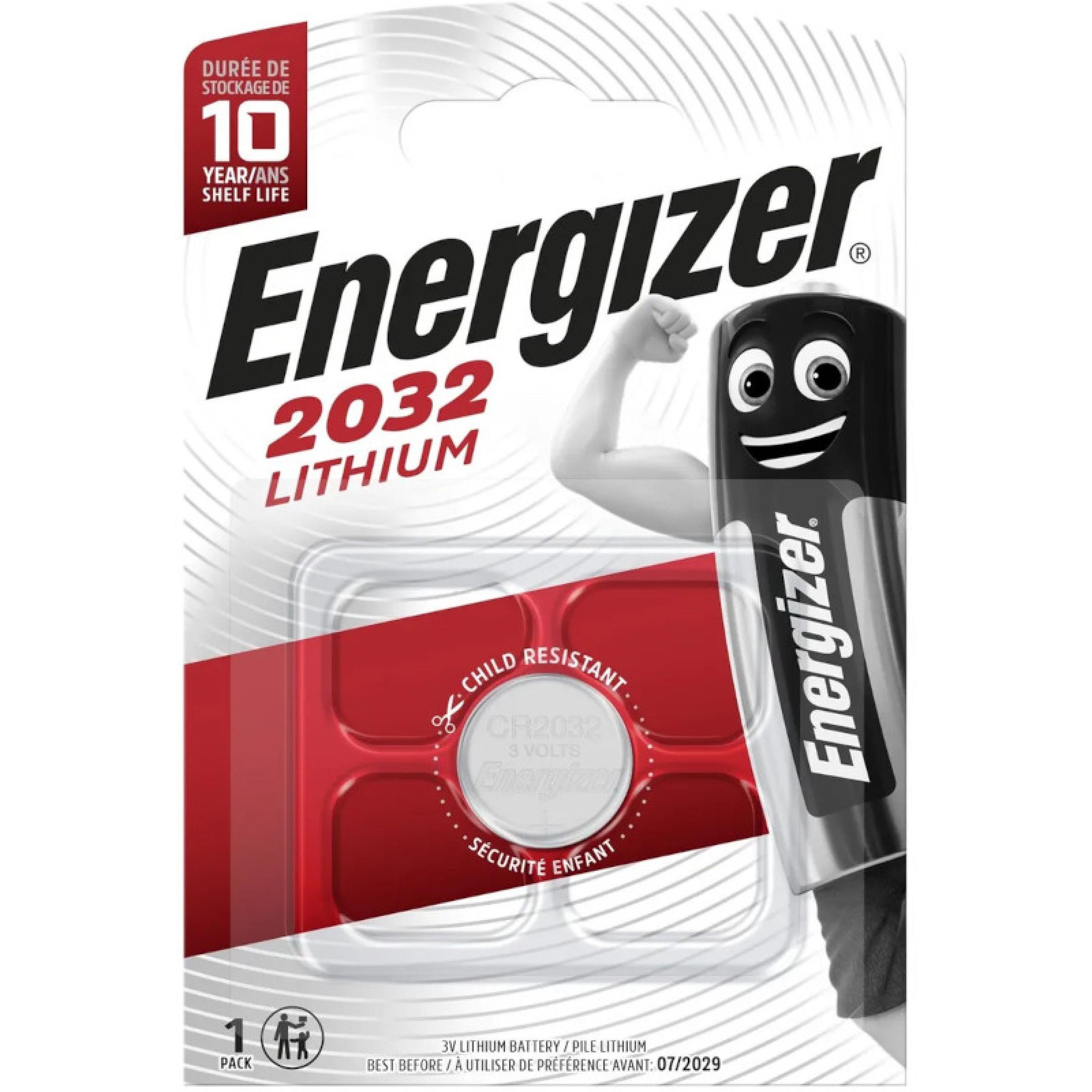 Батарейки Energizer Lithium CR 2032 FSB, 1 шт.