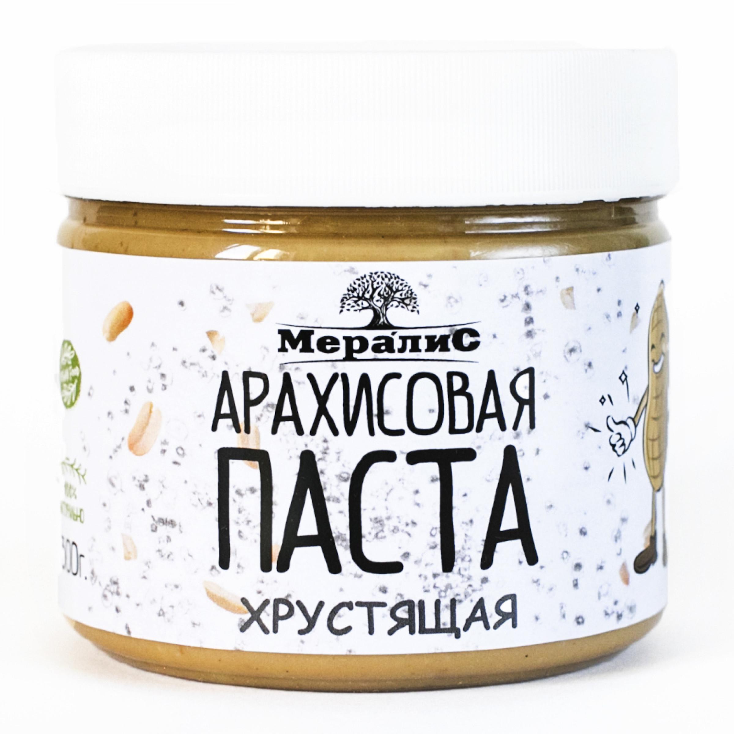 """Арахисовая паста """"Мералис"""" Хрустящая, 300 г"""