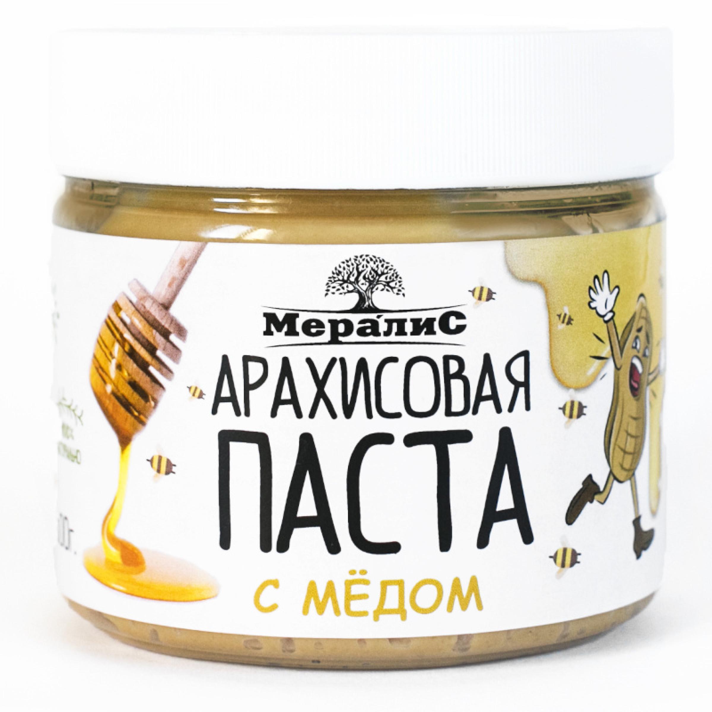 """Арахисовая паста """"Мералис"""" С медом, 300 г"""