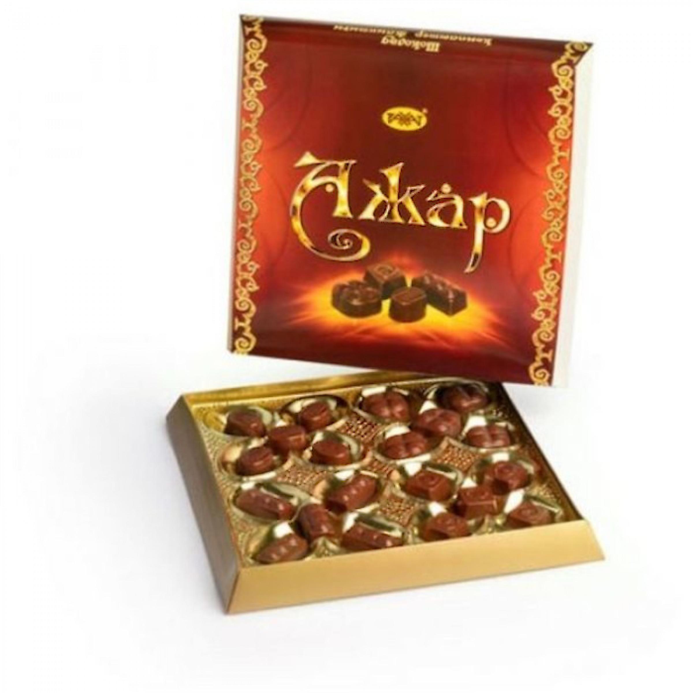 """Набор шоколадных конфет """"Ажар"""" Рахат, 175 г"""