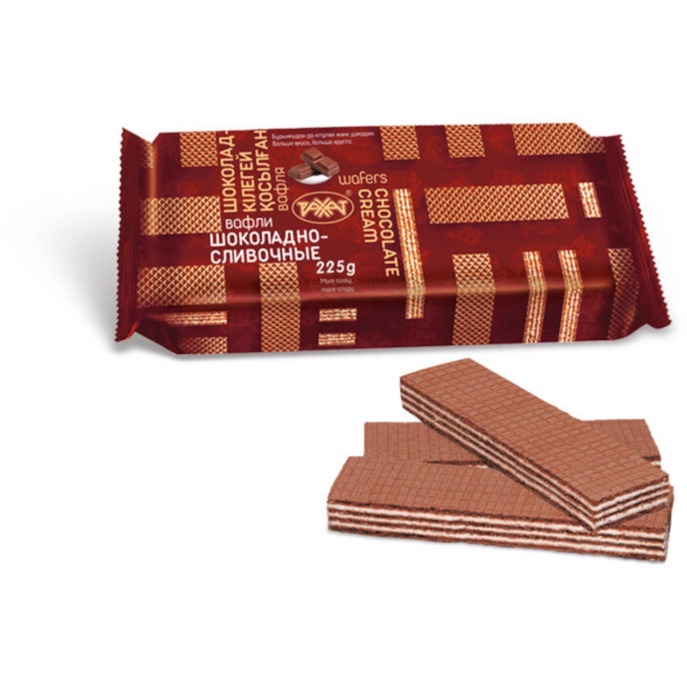 Вафли шоколадно-сливочные Рахат, 225 г