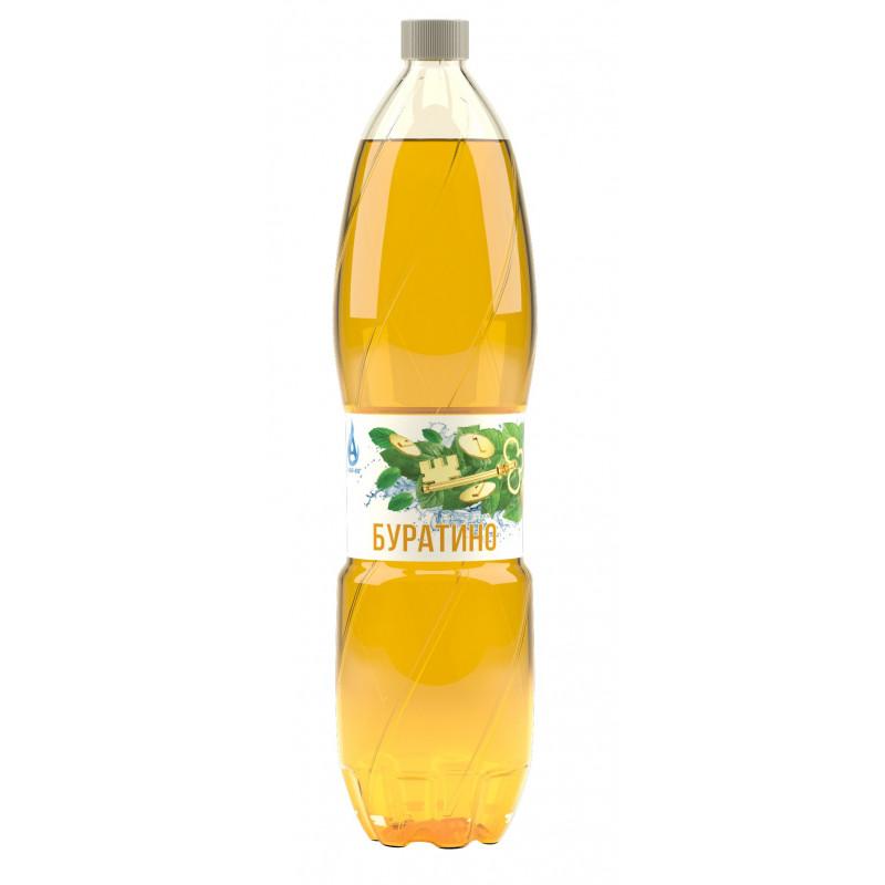 Напиток газированный БУРАТИНО с натуральным соком, безалкогольный Аква-Юг, 1, 5 л