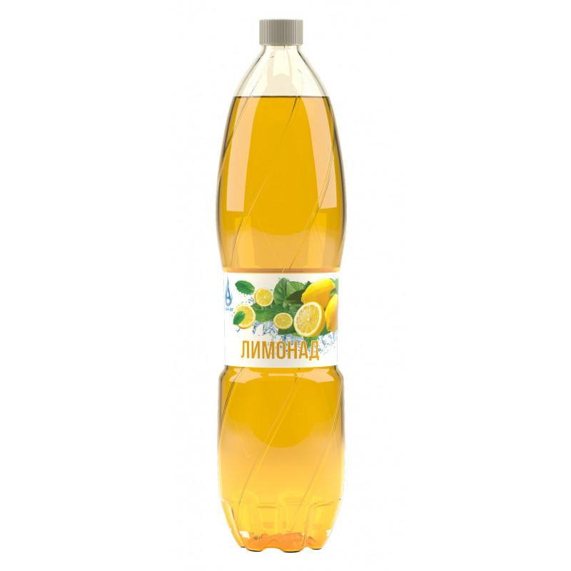 Напиток газированный ЛИМОНАД с натуральным соком, безалкогольный Аква-Юг, 1, 5 л