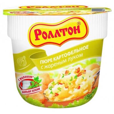 Картофельное пюре Роллтон со вкусом жареного лука, 40гр