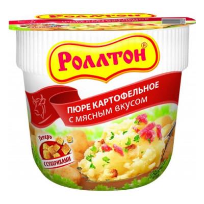 """Картофельное пюре """" Роллтон """" с мясным вкусом, 40гр"""