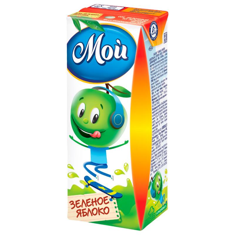 Сок Мой яблочный из зеленых яблок осветленный для детей с 3-х лет, 0, 2л