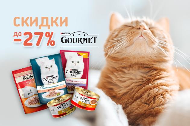 Скидка до -27% на Gourmet!